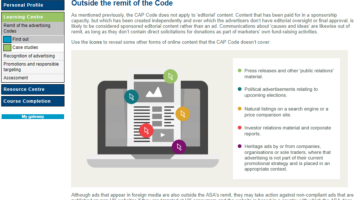 New online training on the social media advertising rules